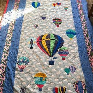 Large Vintage Handmade Balloon Volunteer Quilt